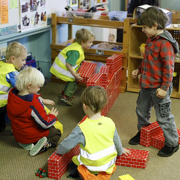 Blocks can be a team or individual activity.